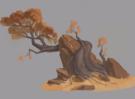 画完石头再画树