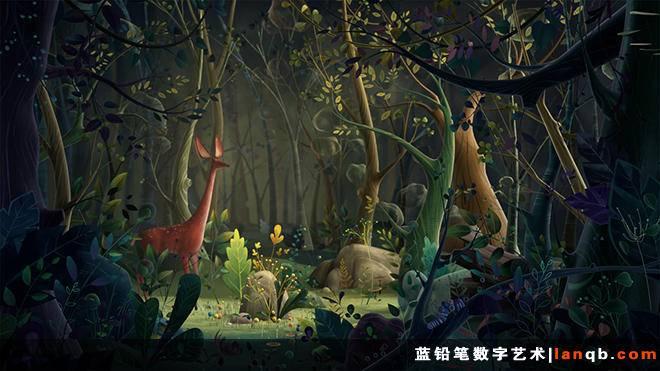 插画风格3D仙境短片《Orman》