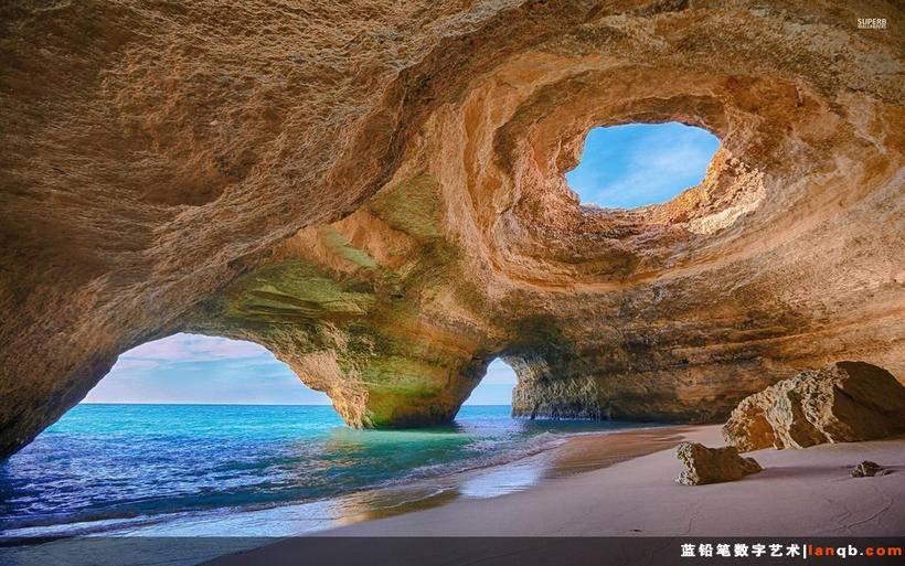 葡萄牙阿尔加维海蚀洞