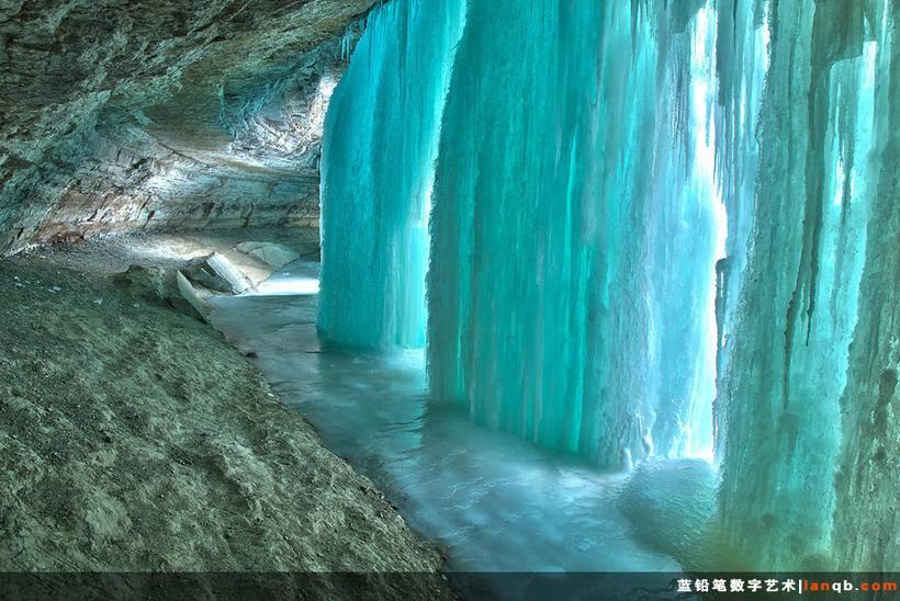 美国明尼苏达州明尼哈哈瀑布洞(Minnehaha Falls Cave)