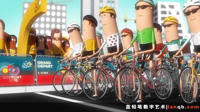 环法自行车赛3D宣传短片《Bon Voyage!》