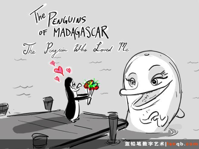 《马达加斯加的企鹅》故事板