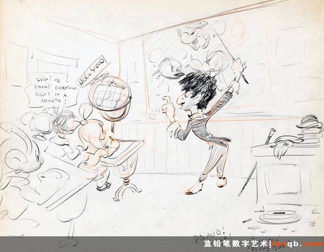 迪士尼艺术家搞怪手绘稿失而复得