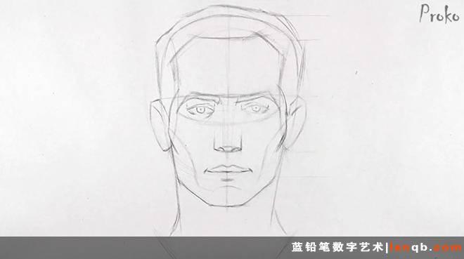 手绘素描教程 | 【独家中字】【proko】基础素描教程——如何画正脸
