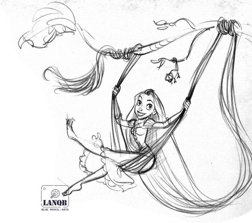 《长发公主》角色设计:rapunzel 上图片