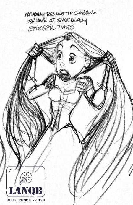 简笔画素描人物公主