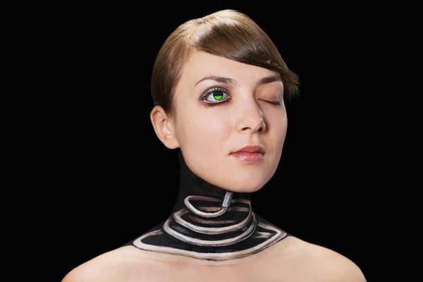 Hikaru Cho 科技感十足的人体彩绘艺术集4
