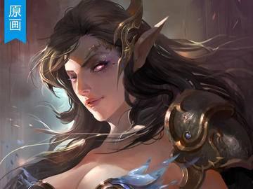 《精灵女王》游戏原画人像视频教程_绘画教程