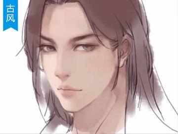 【古风插画】男性角色面部绘 PS绘画教程