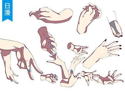 第16期【十分绘画】人体手部画法SAI基础日漫教程_漫画教程