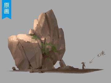 是真的吗【十分绘画】原画基础石头的PS绘制技巧_绘画教程