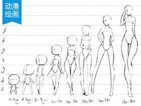 怎么画动漫的人体比例(动漫人体比例)