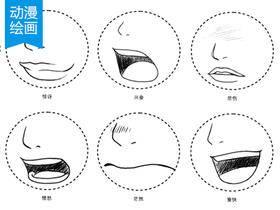 动漫绘画学习:动漫人物五官(嘴巴/鼻子/耳朵)画法集