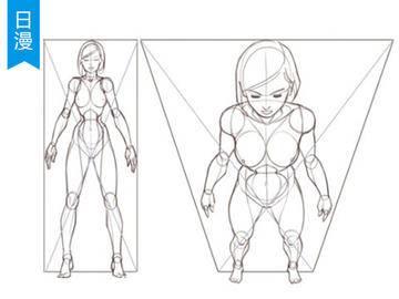 【日漫插画】人体透视PS绘画基础教程
