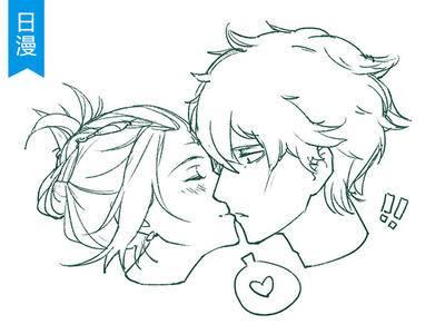 第38期【十分绘画】男女KISS姿势SAI绘画教程_绘画教程