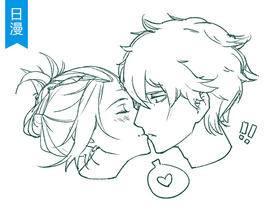【十分绘画】男女KISS姿势SAI绘画凯时娱乐