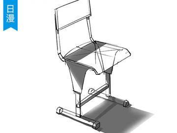 【动漫绘画】椅子的空间透视及光影处理sai教程