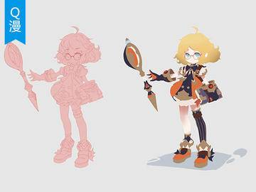 【PS绘画教程】多风格Q版游戏角色设计-剪影设计