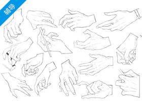 漫画不同姿势的手怎么画?