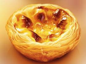 可口蛋挞的绘制