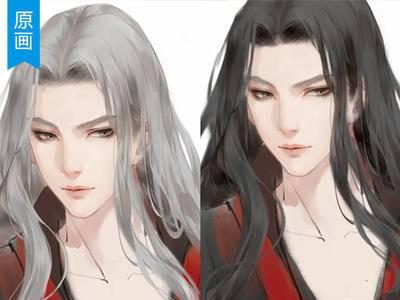 【原画厚涂】写实质感的漂亮头发画法PS教程_绘画教程
