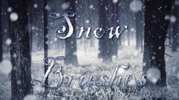 多种雪花、下雪、暴风雪、冰棱柱、雪景背景PS笔刷素材分享(附下载)