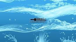 100余种水面波纹、液体、水花、水浪、雨水、海面纹理PS笔刷素材分享(附下载)