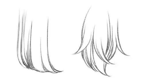 发型的各种角度,各种画法,以后再也不用担心不会画头发了!图片