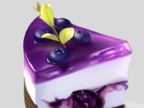 蛋糕怎么画