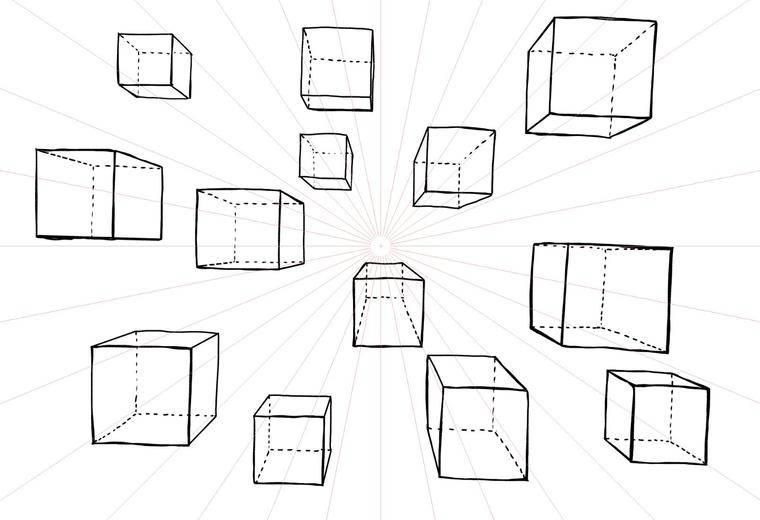 人体结构造型班(MZ蒙子),练习几何体的透视,正式学员