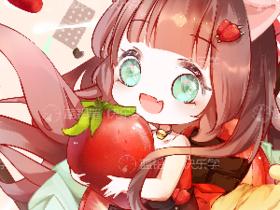 今日份的小草莓,九九依旧很阔爱