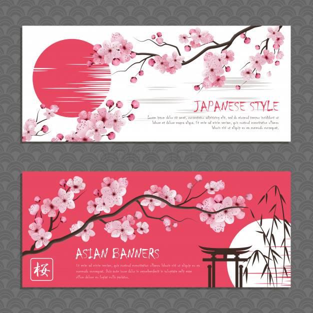 日系和风-漂亮樱花素材-矢量图及笔刷下载(上)