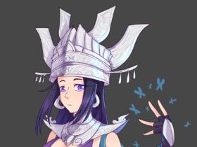 【SAI2平涂立绘】剑三毒姐姐绘制过程