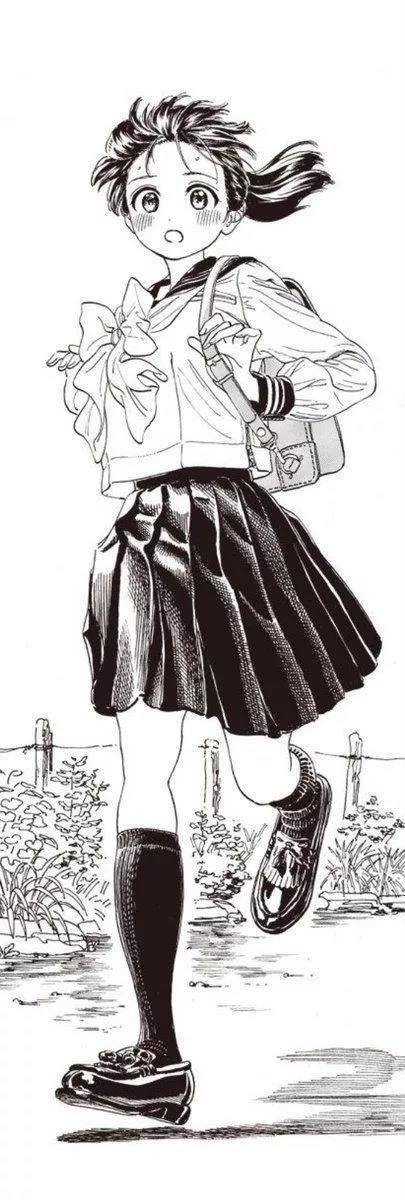 她的作品大多是以校园风创作题材 画中的青春美少女让人毫无抵抗力