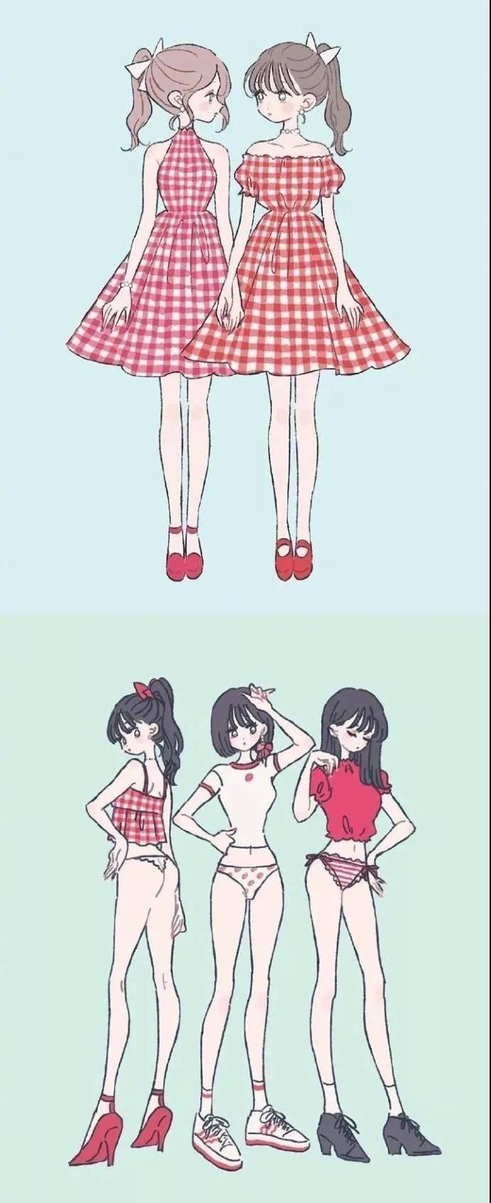动漫中女生人物绘画技巧——少女篇,再也不怕是小萝莉