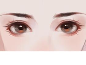 眼睛的结构理解和上色步骤