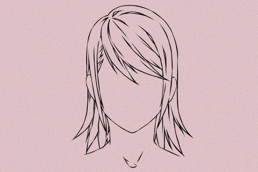 【手绘漫画】教你女孩纸头发的画法图片