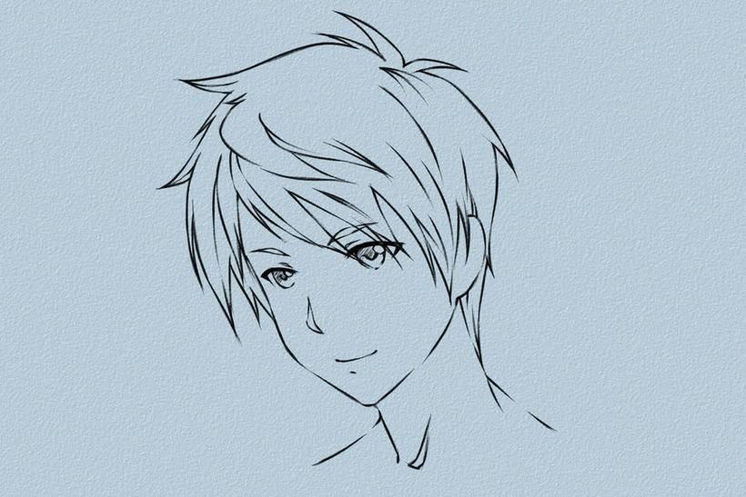 【手绘漫画】教你男孩纸头发的画法
