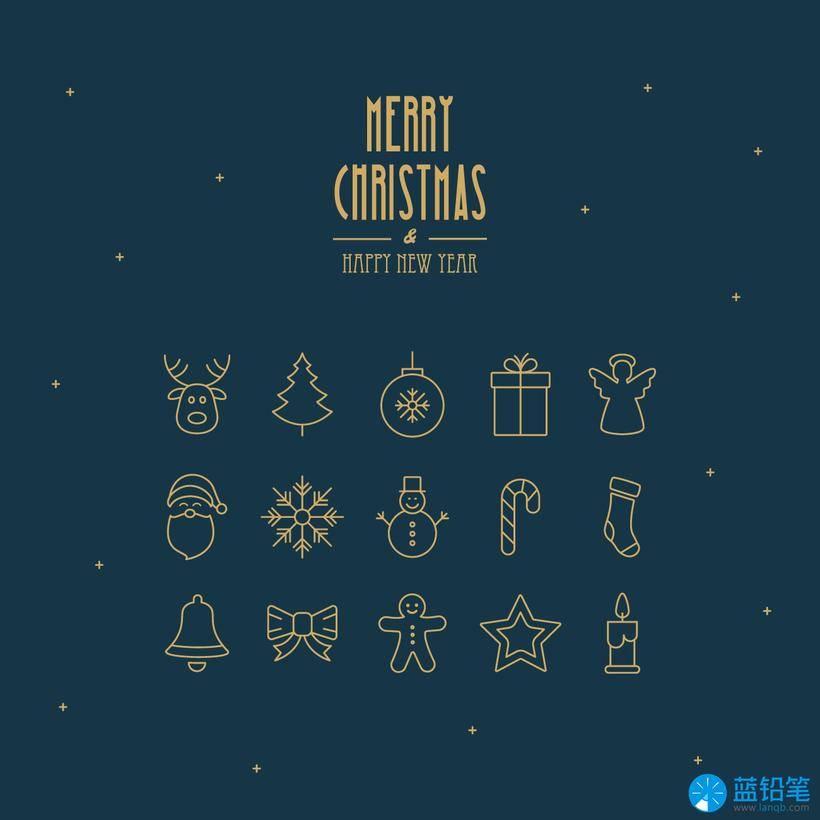 圣诞插画设计手工素材(附ai和eps源文件)