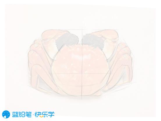 螃蟹的画法:打型