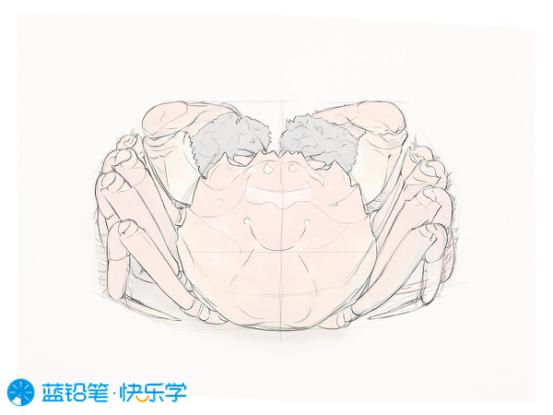 螃蟹的画法:勾线