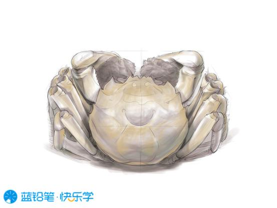 螃蟹的画法:明暗关系