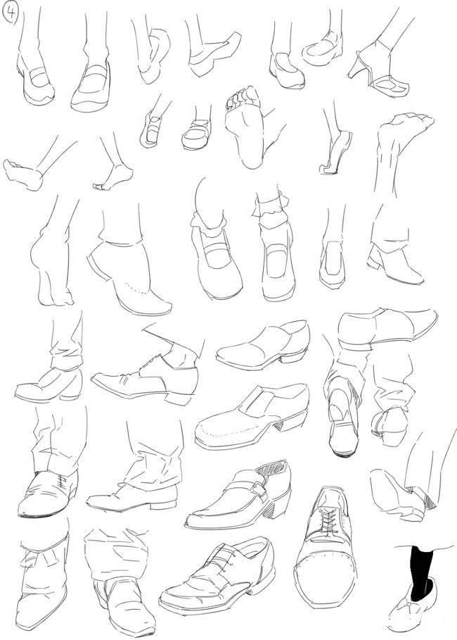 画画怎么画鞋子