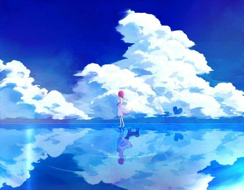 【动漫背景】超简单的云朵画法ps教程-手绘教程-蓝铅笔