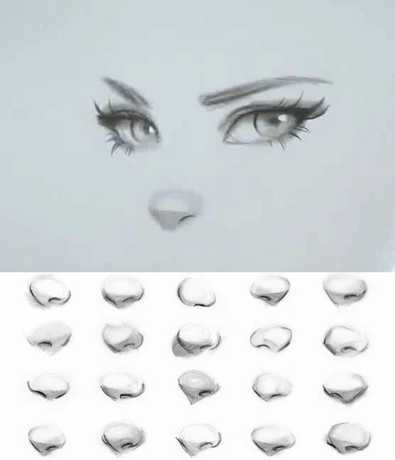 【人体五官】简单又好看的鼻子画法手绘教程