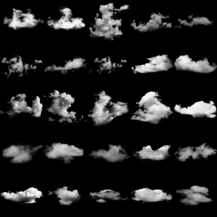彩,天空云朵效果素材ps笔刷