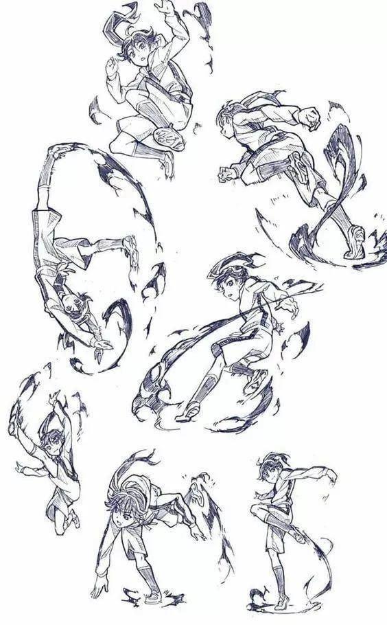 一波姿势绘画素材参考,解锁多种动作和姿态