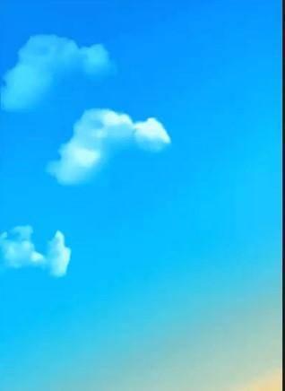 天空中的动物云朵