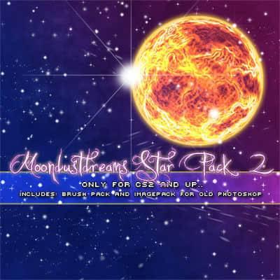 3,仿真星星闪烁,星光闪耀,星光点点等梦幻背景ps笔刷下载