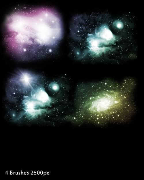 近100种宇宙背景,银河系,星球,星空ps笔刷素材分享(附